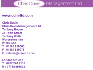 Chris Davis Logo
